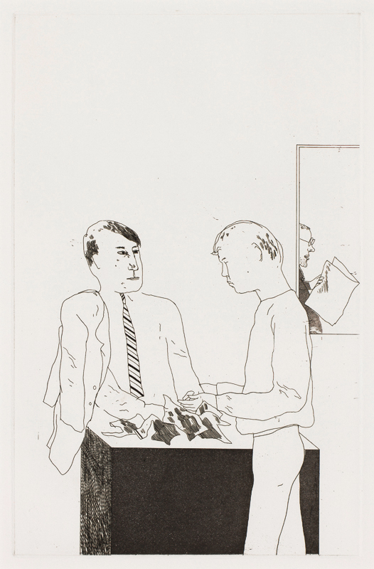 HOCKNEY David O.M. R.A. (b.1937) - 'He enquired after the quality'.