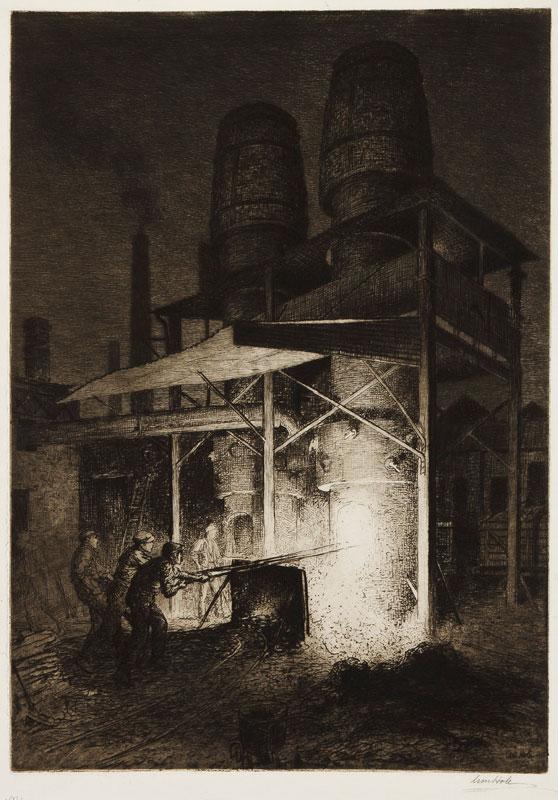 HOLE William R.S.A. (1846-1917) - 'Granton Iron Foundry'.
