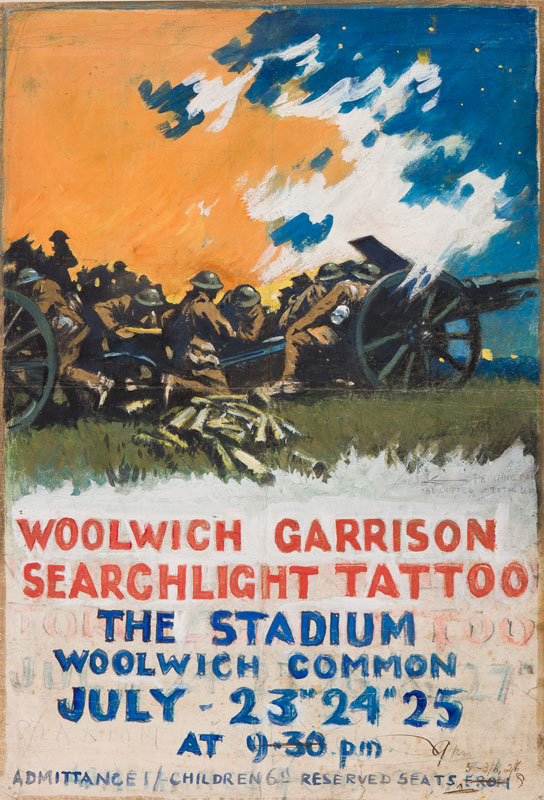 HOLIDAY Gilbert (1879-1937) - 'Woolwich Garrison Searchlight Tattoo / The Stadium Woolwich Common'.