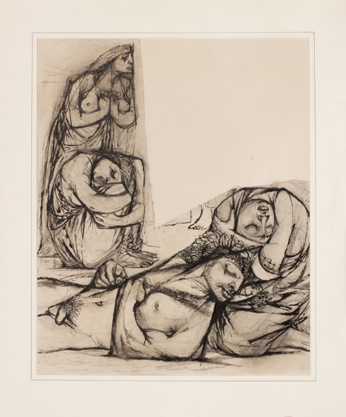 HOLLAND Dudley (1915-1956) - Study for 'Death of Adonis'.