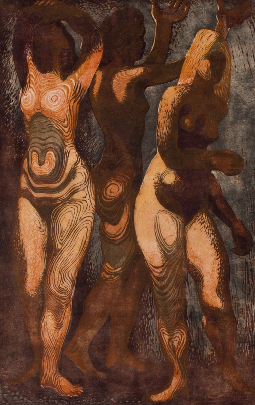 HOLLAND Dudley (1915-1956) - The Three Graces.