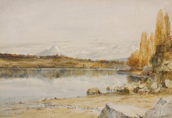 HOLLAND James (1799-1870) - 'Mont Blanc from Lake Geneva'.