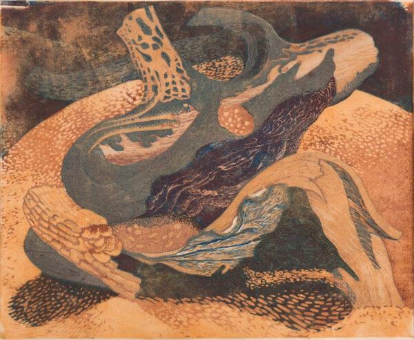 HOLLAND Dudley (1915-1956) - 'Beech log'.