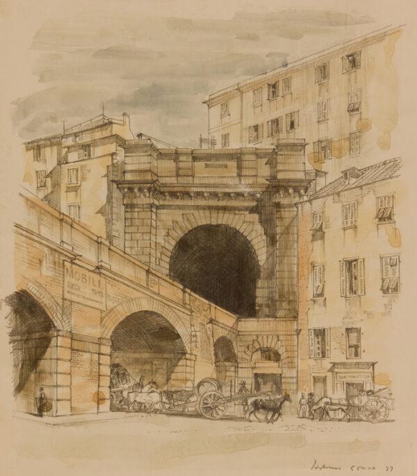 HOLMES Kenneth (1902-1994) - 'Genoa'.