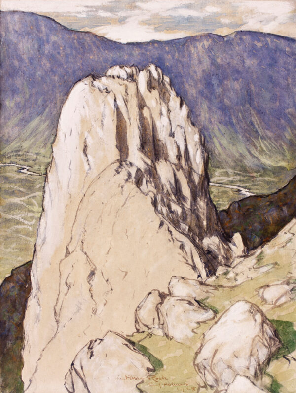 HOLMES Sir Charles N.E.A.C. R.W.S. (1868-1936) - 'The Pillar Rock'.