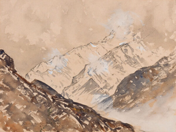HOLMES Sir Charles (1868-1936) - 'Cloud on the Dents du Midi'.