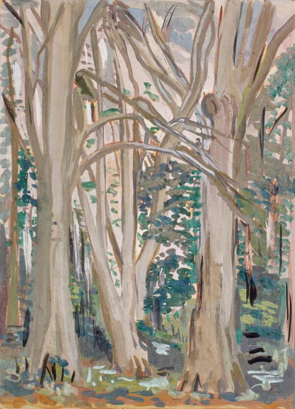 HONE Evie H.R.H.A. (1894-1955) - Woods at Marley, Co Dublin.
