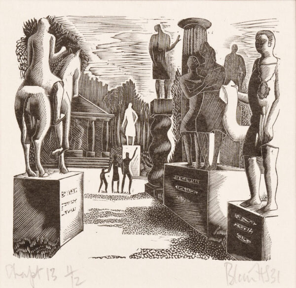 HUGHES-STANTON Blair (1902-1981) - 27 wood-engraving chapter headings for Samuel Butler's Erewhon (1872).
