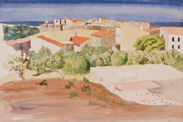IHLEE Rudolph N.E.A.C. (1883-1968) - The roofs of Collioure.