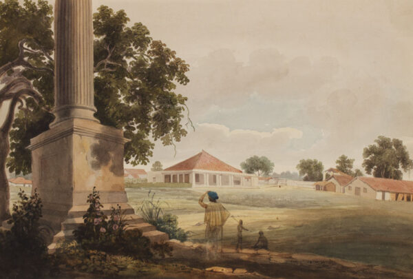 INDIA (Subject) Anon. Circa 1820. - Six watercolours of a house and factory at Arrah in the District of Shahabad, Bihar.