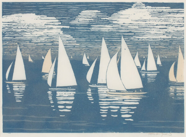 JANES Norman (1892-1980) - Becalmed yachts.