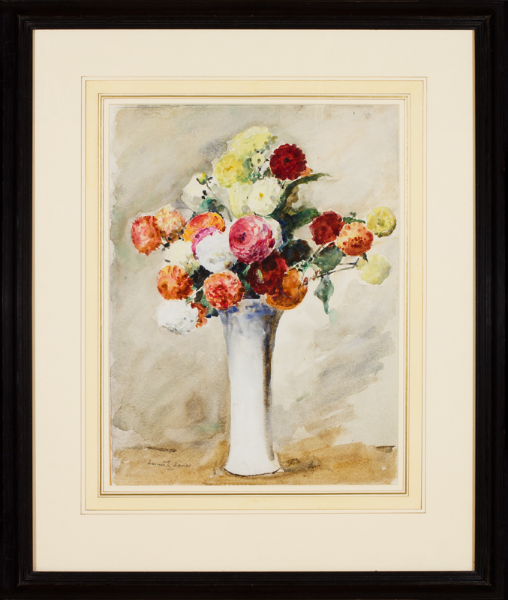JAMES Francis R.W.S. N.E.A.C. (1849-1920) - The vase of dahlias.