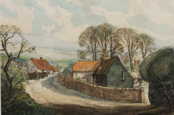 JEZZARD Stanley (1911-1983) - Somerset: 'A farm near Holford'.
