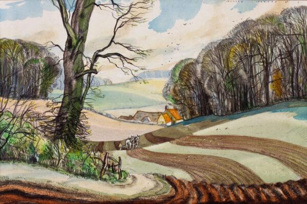 JEZZARD Stanley (1911-1983) - 'The Plough Team'.