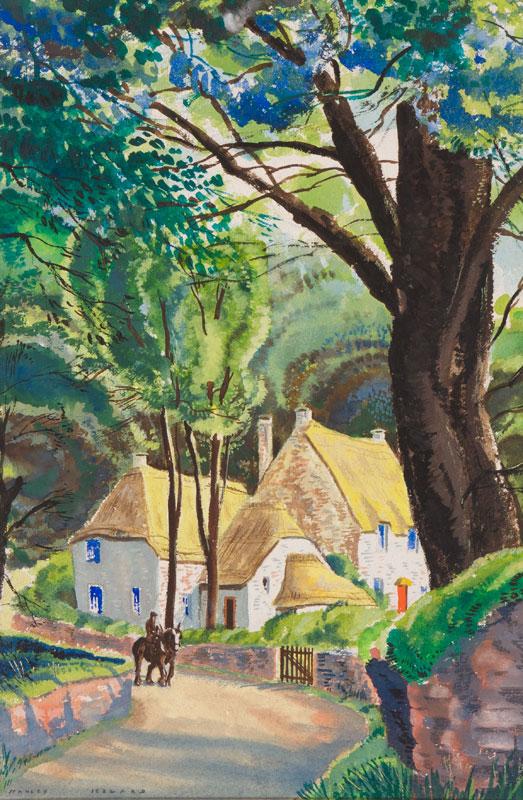 JEZZARD Stanley (1911-1983) - The return from the fields, probably Devon.