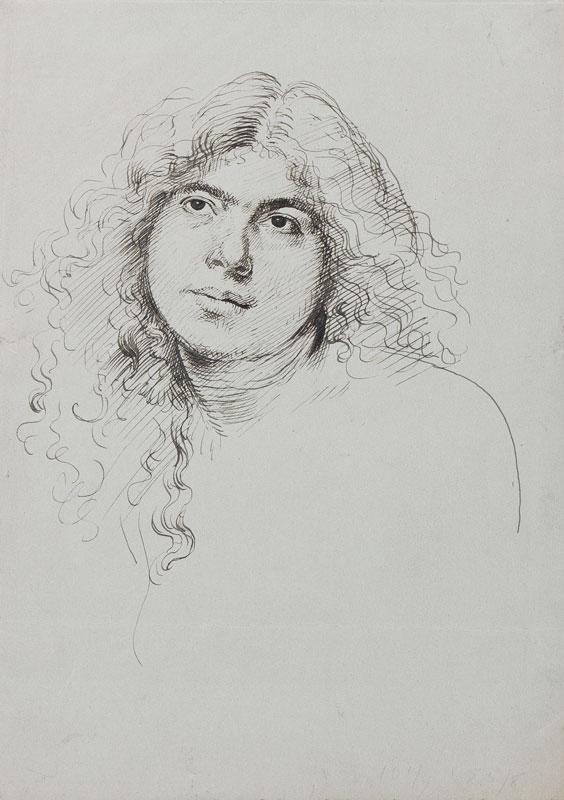 JOHN Augustus O.M. R.A. (1878-1961) - Head of a girl.