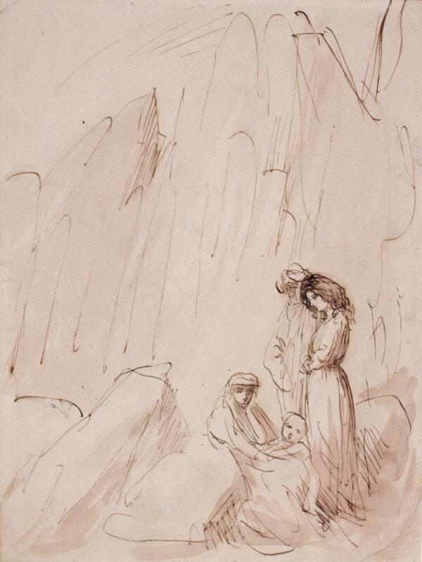 JOHN Augustus O.M. R.A. (1878-1961) - Composition study.