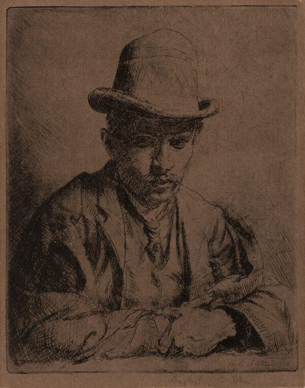 JOHN Augustus O.M. R.A. (1878-1961) - 'Benjamin Evans'.
