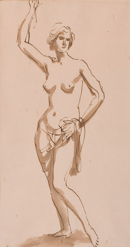 JOHN Augustus O.M. R.A. (1878-1961) - Study from the Nude.
