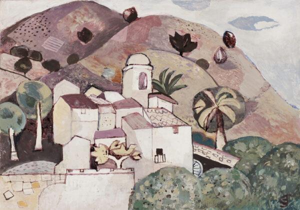JOHNSTONE Gwyneth (1914-2011) - Mediterranean landscape.