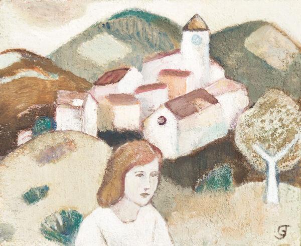 JOHNSTONE Gwyneth (1914-2010) - The Village Visit.