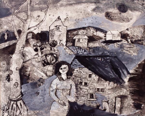 JOHNSTONE Gwyneth (1914-2010) - Lonely landscape.