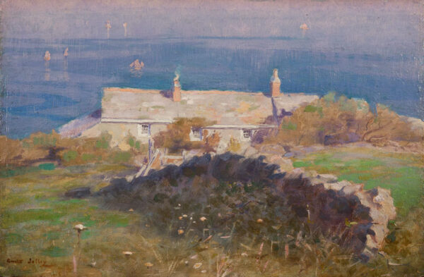 JOLLEY Martin Gwilt (1859-1916) - 'The cottage by the sea, St Ives Bay'.