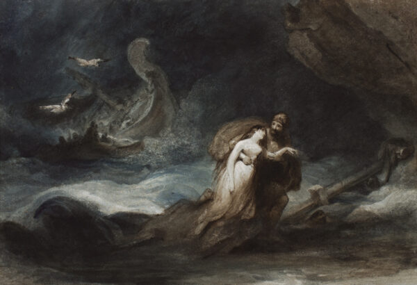 JONES George R.A. (1786-1869) - The shipwreck of Menelaus and the phantom Helen (Euripides Helen).