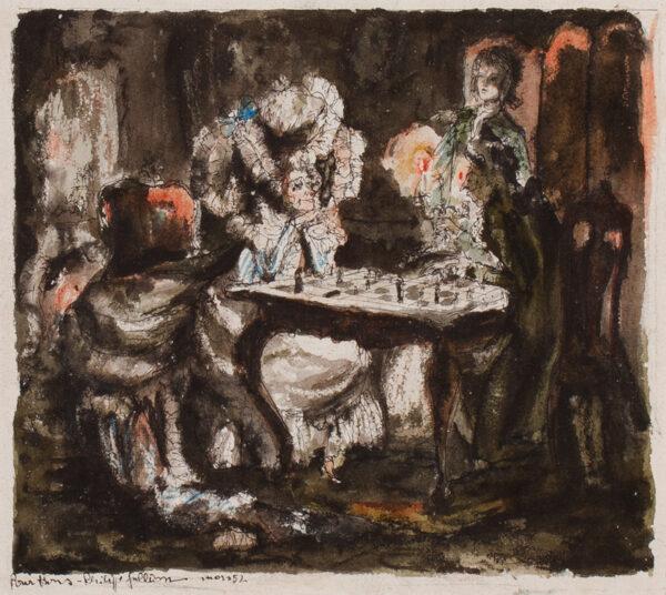 JULLIAN Philippe (1921-1977) - 'At chess'.