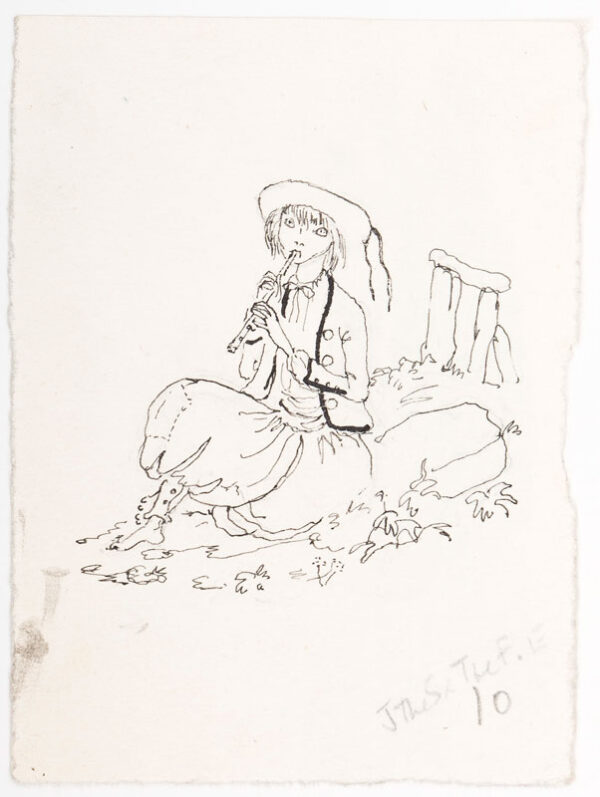 JULLIAN Philippe (1921-1977) - 'Fairy Tales of Land and Sea'; eight pen and ink studies for the compilation by Simonne Ratel published by The Bodley Head'.