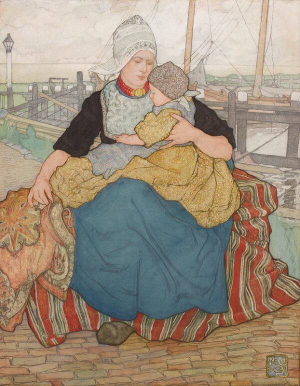 JUNGMANN Nico (1872-1935) - The Dutch Madonna.