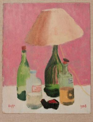KAPP Edmond Xavier (1890-1978) - 'Still-life with bottles'.
