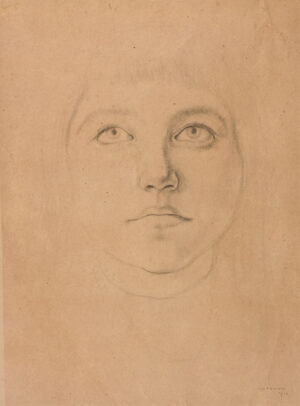 KRAMER Jacob (1892-1962) - Study of a Slade student.