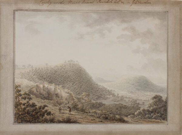 KEATE George F.R.S. F.S.A. (1729-1797) (Circle of) - Gloucestershire: 'Cowley Woods, Mount Ararat, Downlands Hill Etc'.