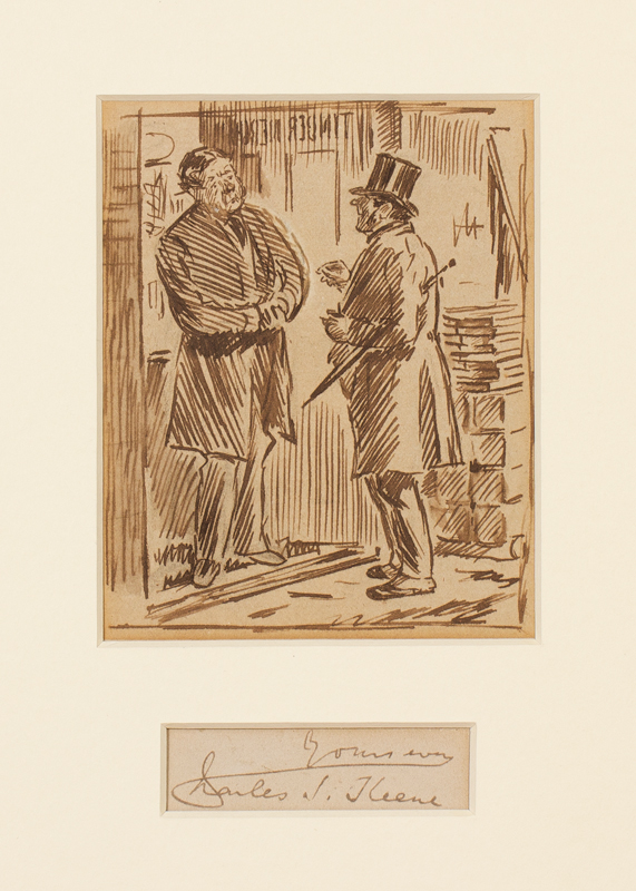 KEENE Charles (1823-1891) - Violin maker disappointing a timber merchant.