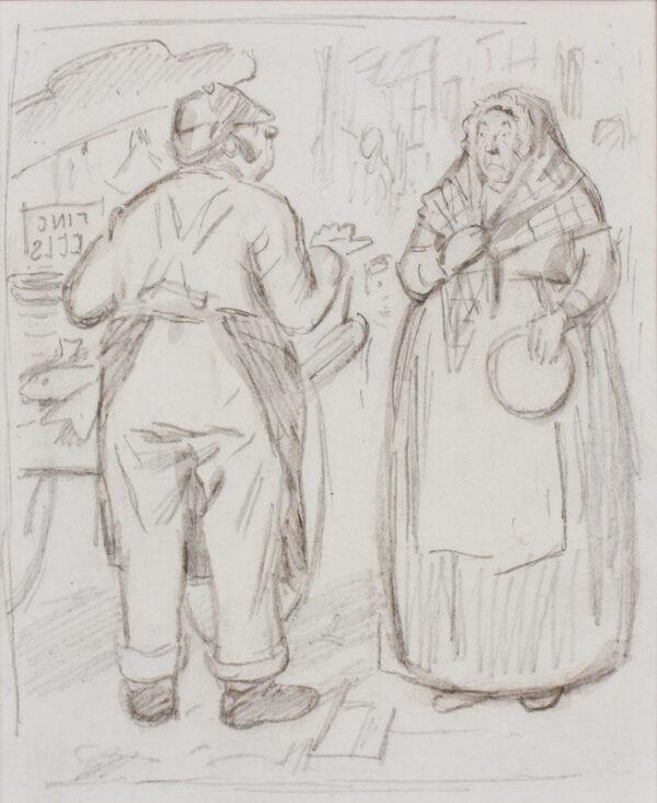 KEENE Charles (1823-1891) - Market conversation.