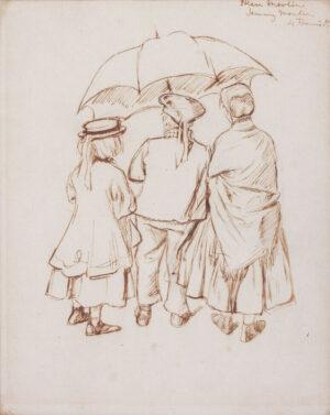 KEENE Charles (1823-1891) - 'Ellen, Francis and Jenny M(?artin)'.