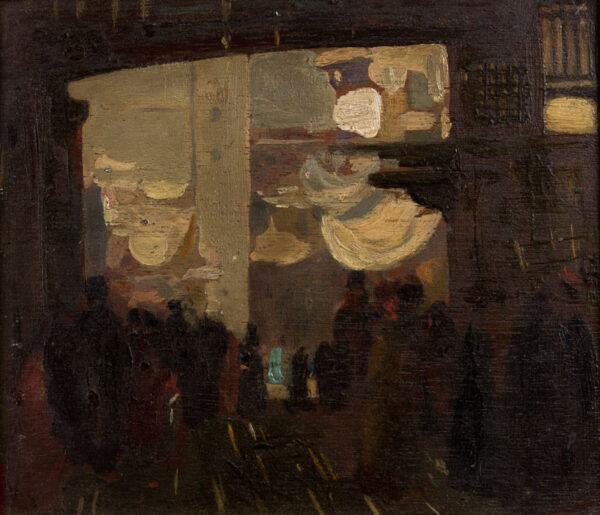 KELLY Sir Gerald P.R.A. (1892-1972) - Street Scene, Cairo.