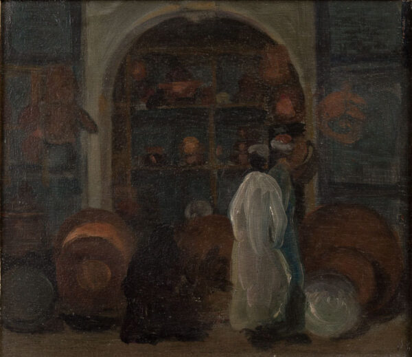 KELLY Sir Gerald P.R.A. (1892-1972) - 'Chareh al Mahassine, Cairo'.