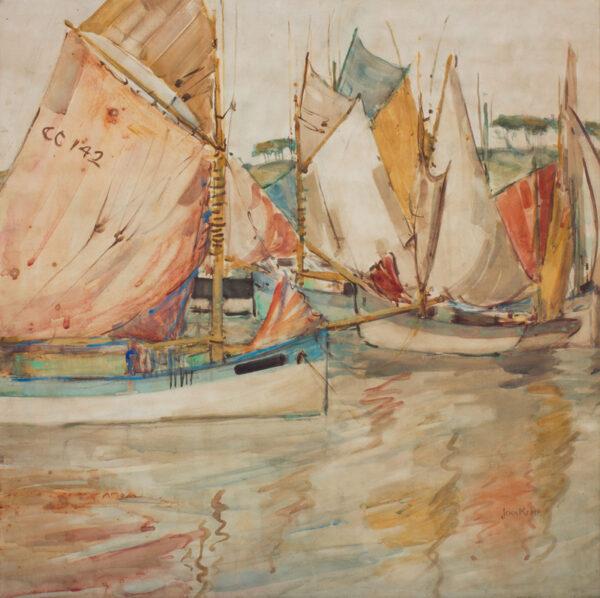 KEMP Jeka (1876-1967) - 'Les Thonnieres': the Concarneau tuna fleet.