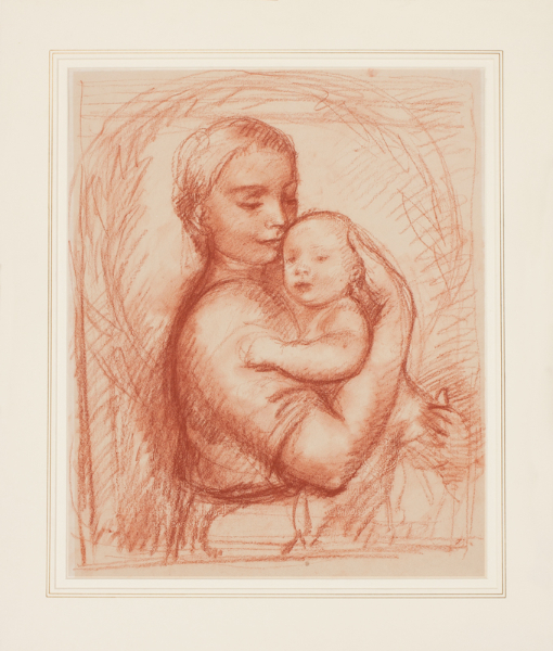 KLINGHOFFER Clara N.E..C. (1900-1970) - Mother and Child.