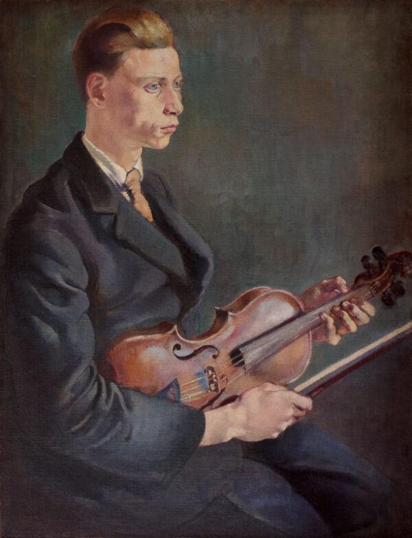 KLINGHOFFER Clara (1900-1970) - The Violinist.