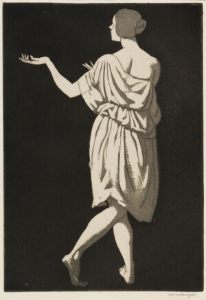 KNIGHT Dame Laura R.A. R.W.S. (1877-1970) - Grecian Dancer.