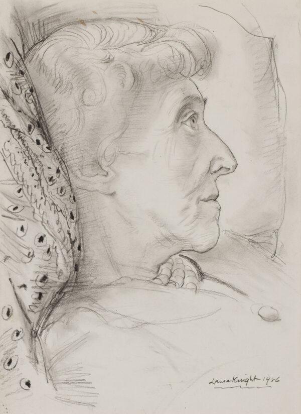 KNIGHT Dame Laura R.A. R.W.S. (1877-1970) - 'Princess Marie-Louise' (1872-1956).