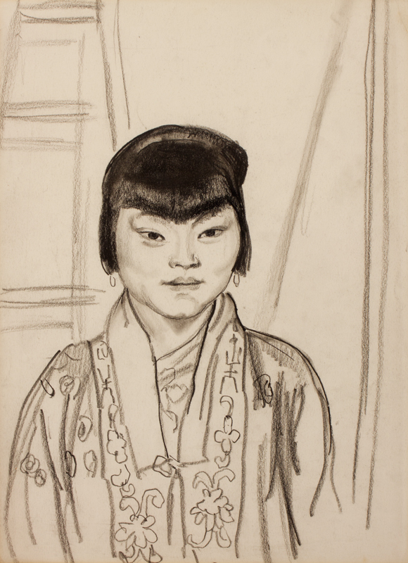 KNIGHT Dame Laura R.A. R.W.S. (1877-1970) - Japanese Girl.