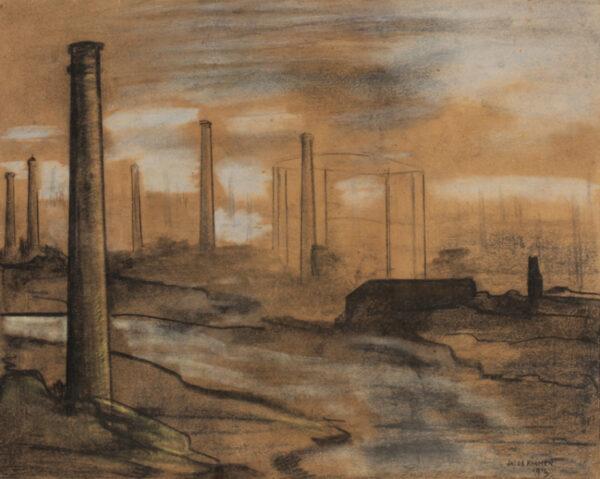 KRAMER Jacob (1892-1962) - Industrial landscape, Leeds.