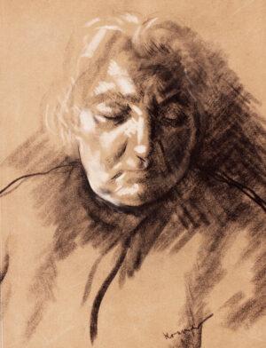 KRAMER Jacob (1892-1962) - The Artist's Mother: Cecilia Kramer.