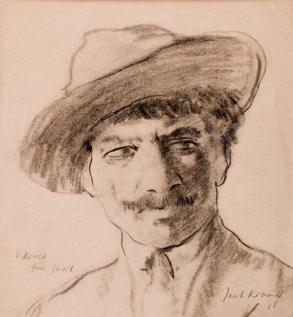 KRAMER Jacob (1892-1962) - Portrait of the author, artist and landscape gardener John Harold Wood.