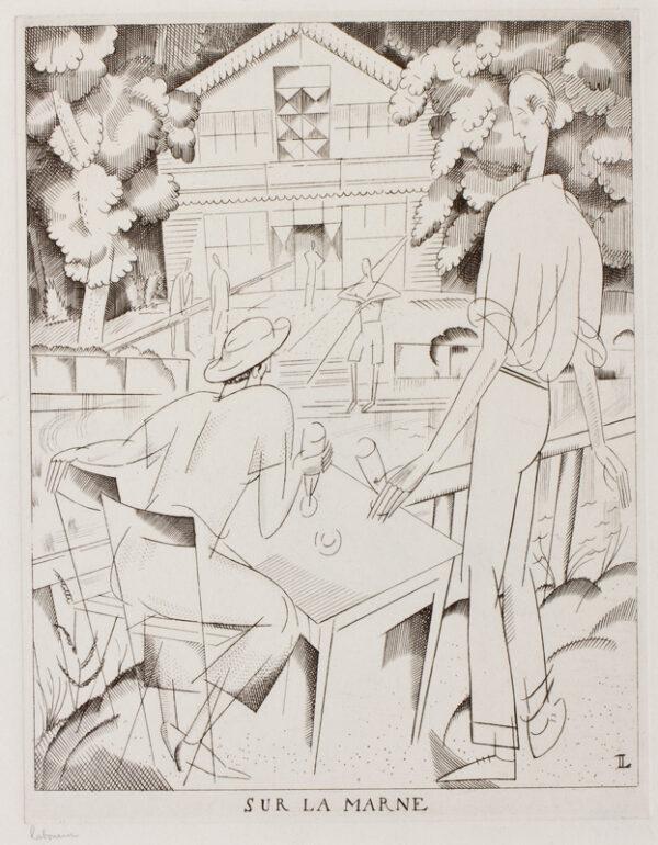 LABOUREUR Jean-Emile (1877-1943) - 'Sur La Marne'.