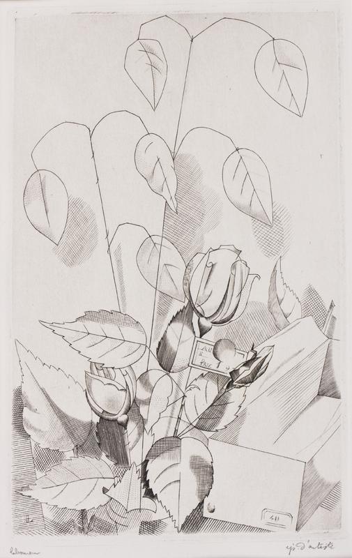 LABOUREUR Jean-Emile (1877-1943) - 'Fleurs artificielles' (G.